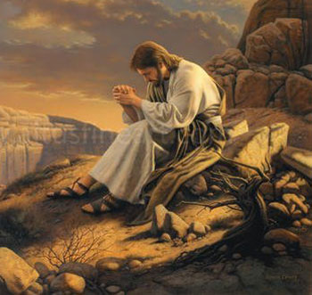 jesus-praying-the-desert